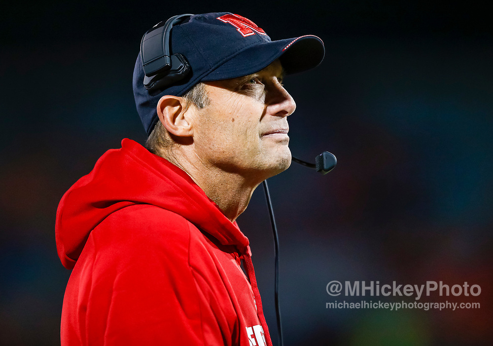 CHAMPAIGN, IL - SEPTEMBER 29: Head coach Mike Riley of the Nebraska Cornhuskers is seen during the game against the Illinois Fighting Illini at Memorial Stadium on September 29, 2017 in Champaign, Illinois. (Photo by Michael Hickey/Getty Images) *** Local Caption *** Mike Riley