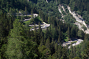 La strada del Passo Maloja..Maloja Pass road