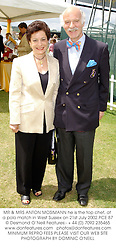 MR & MRS ANTON MOSIMANN he is the top chef, at a polo match in West Sussex on 21st July 2002.PCE 87