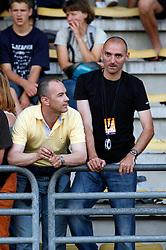 Coaches Borut Bilac and Matic Sestak at 2nd Memorial Meeting of Matic Sustersic, on June 3, 2007, Ljubljana, Slovenia.   (Photo by Vid Ponikvar / Sportal Images).