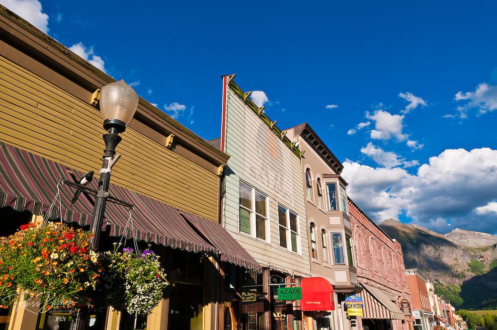 Historic downtown buildings, Telluride, Colorado