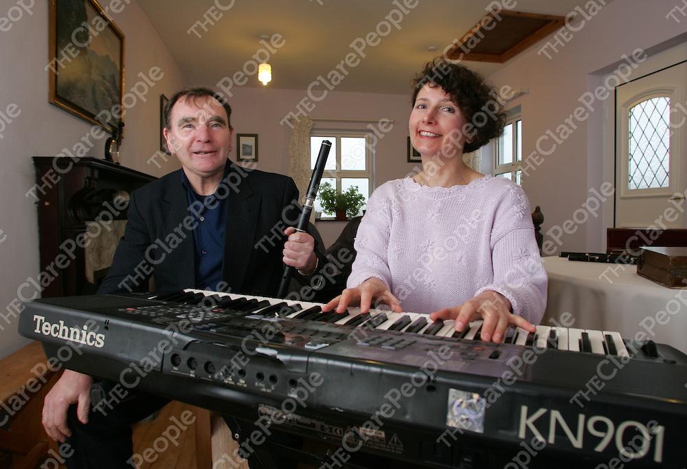 Bill McNamara and Taitiana (Tania) Timofeera pictured at the Doonbeg music school. Pic Sean Curtin Press 22.
