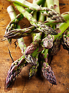 fresh asparagus spears.