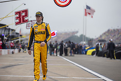 June 10, 2018 - Brooklyn, Michigan, United States of America - Erik Jones (20) waits for the start of the FireKeepers Casino 400 during a weather delay at Michigan International Speedway in Brooklyn, Michigan. (Credit Image: © Stephen A. Arce/ASP via ZUMA Wire)