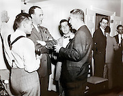 corporate social gathering party 1940s USA