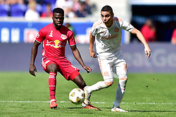 September 30, 2018 - Harrison, New Jersey, USA - Atlanta United FC defender MIGUEL ALMIRON (10) and New York Red Bulls Defender  KEMAR LAWRENCE (92) in action at Red Bull Arena in Harrison New Jersey New York defeats Atlanta 2 to 0 (Credit Image: © Brooks Von Arx/ZUMA Wire)