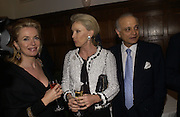 Isabella Aly Aziz, Mrs. Roger Moore ( Kiki tholstrup) Sirdar Aly Aziz, Roger Moore and Claus von Bulow, Olga Polizzi and Rocco Forte host a party to celebrate the re-opening of Brown's Hotel  after a  £19 million renovation. Albermarle St. London. 12 December 2005. ONE TIME USE ONLY - DO NOT ARCHIVE  © Copyright Photograph by Dafydd Jones 66 Stockwell Park Rd. London SW9 0DA Tel 020 7733 0108 www.dafjones.com