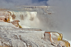 Mammoth Hot Spring Terraces in Yellowstone National Park.
