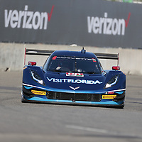 Detroit, MI - Jun 03, 2016:  The VisitFlorida.com Corvette DP races through the turns at the Detroit Grand Prix at Belle Isle Park in Detroit, MI.