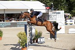 Grand Prix Longines; 4-ter Rang für den Belgier Christophe Vanderhasselt mit seiner Stute Identity Vitseroel (BWP) (Air Jordan Z / Darco). (Valeria Streun)