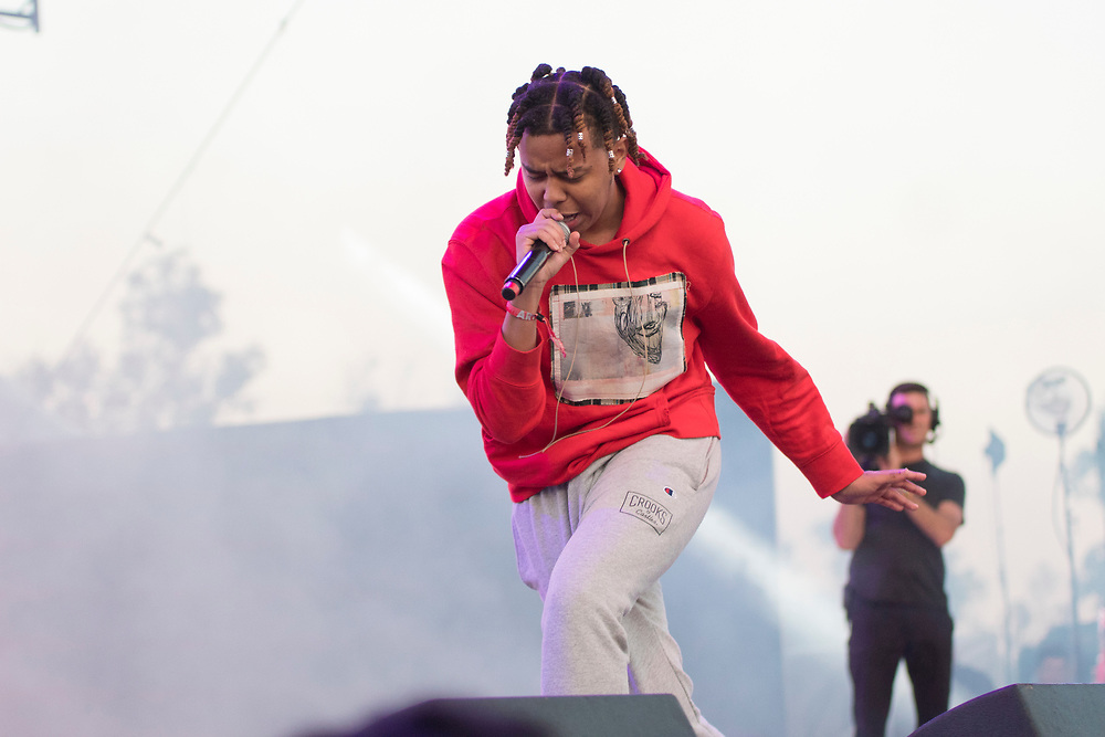 YBN Cordae makes a surprise appearances during Taco's set at the Camp Flog Gnaw Carnival in Los Angeles, CA on November 11, 2018.