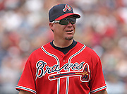 ATLANTA - JUNE 28:  Third baseman Chipper Jones #10 of the Atlanta Braves looks into the visitor's dugout during the game against the Boston Red Sox at Turner Field on June 28, 2009 in Atlanta, Georgia.  The Braves beat the Red Sox 2-1.  (Photo by Mike Zarrilli/Getty Images)