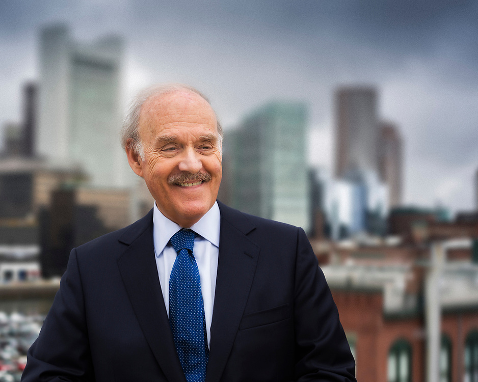 Location portrait of Philip Balboni on rooftop at Fort Point in Boston.