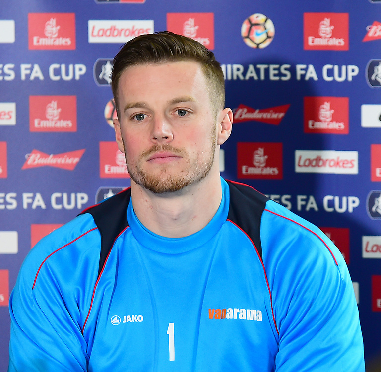 Lincoln City's Paul Farman speaks to the media<br /> <br /> Photographer Andrew Vaughan/CameraSport<br /> <br /> Emirates FA Cup Quarter Final - Lincoln City Press Conference - Thursday 9th March 2017 - Sincil Bank - Lincoln<br />  <br /> World Copyright © 2016 CameraSport. All rights reserved. 43 Linden Ave. Countesthorpe. Leicester. England. LE8 5PG - Tel: +44 (0) 116 277 4147 - admin@camerasport.com - www.camerasport.com