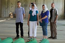 11.07.2015, Sarajevo, BIH, Srebrenica Massaker, 20. Jahrestag, im Bild US Ambassador to Bosnia and Herzegovina, Elisabeth Morin Kormak, visiting the remains of victims of the Srebrenica genocide. EXPA Pictures © 2015, PhotoCredit: EXPA/ Pixsell/ Samir Zahirovic/HaloPix<br /> <br /> *****ATTENTION - for AUT, SLO, SUI, SWE, ITA, FRA only*****