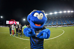 August 29, 2018 - San Jose, California, United States - San Jose, CA - Wednesday August 29, 2018: Q, mascot during a Major League Soccer (MLS) match between the San Jose Earthquakes and FC Dallas at Avaya Stadium. (Credit Image: © John Todd/ISIPhotos via ZUMA Wire)