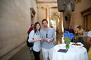 WHITNEY HINTZ; ELLIOT MACDONALD, Tate Summer Party. Celebrating the opening of the  Fiona Banner. Harrier and Jaguar. Tate Britain. Annual Duveens Commission 29 June 2010. -DO NOT ARCHIVE-© Copyright Photograph by Dafydd Jones. 248 Clapham Rd. London SW9 0PZ. Tel 0207 820 0771. www.dafjones.com.
