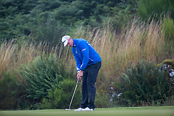 Iceland's Axel Boasson putts out at the 7th during his semi final match with Spain during day eleven of the 2018 European Championships at Gleneagles PGA Centenary Course.