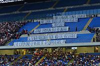 Contestazione tifosi Milan Protest of Milan Supporters<br />  Milano 09-05-2015 Stadio Giuseppe Meazza - Football Calcio Serie A Milan - Roma. Foto Giuseppe Celeste / Insidefoto