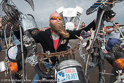 The Rat's Hole Bike Show in the Crossroads area of the Buffalo Chip during the annual Sturgis Black Hills Motorcycle Rally.  SD, USA.  August 11, 2016.  Photography ©2016 Michael Lichter.