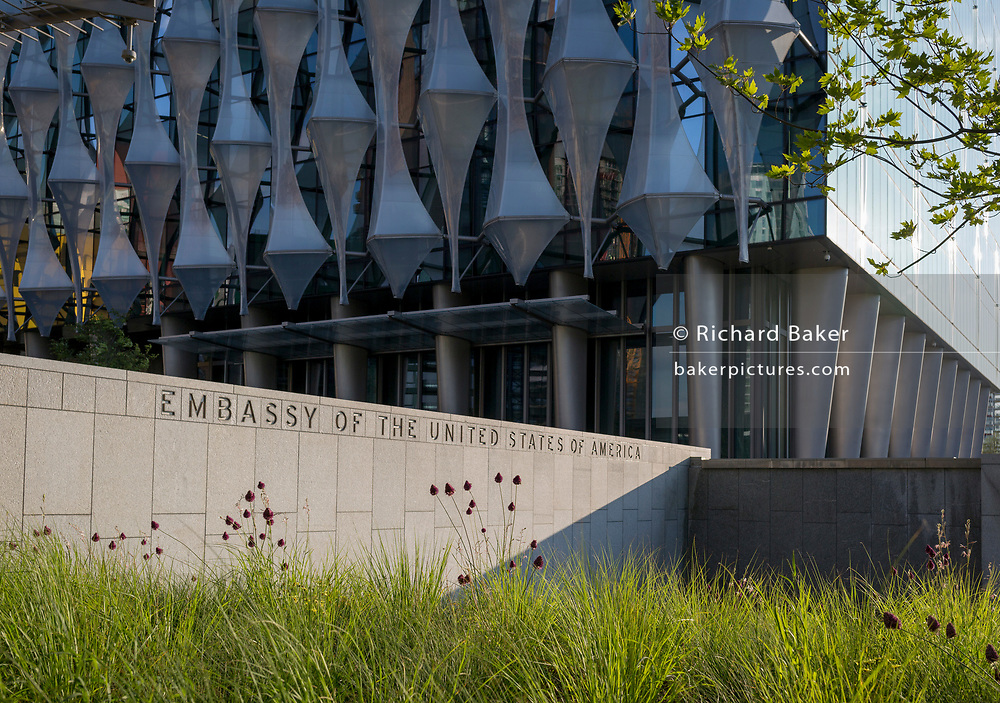 Exterior of the US Embassy in Nine Elms, on 7th July 2018, in London, England.