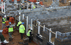Embargoed to 0001 Saturday June 16 File photo dated 07/02/17 of builders at work. A survey by watchdog Which? has found that roofers and builders have been voted the least trustworthy tradespeople while consumers have the most confidence in electricians.