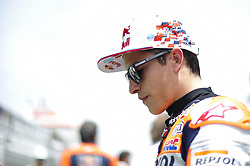 June 17, 2018 - Barcelona, Catalonia, Spain - The Spanish rider, Marc Marquez, before start the race, during the Catalunya Motorcycle Grand Prix at Circuit de Catalunya on June 17, 2018 in Barcelona, Spain. (Credit Image: © Joan Cros/NurPhoto via ZUMA Press)