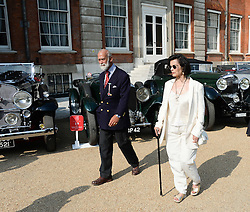 HRH PRINCE MICHAEL OF KENT and BIANCA JAGGER at the St.James's Concours of Elegance at Marlborough House, London on 5th September 2013.