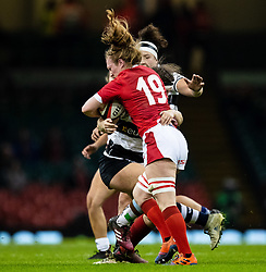 Abbie Fleming of Wales <br /> <br /> Photographer Simon King/Replay Images<br /> <br /> Friendly - Wales v Barbarians - Saturday 30th November 2019 - Principality Stadium - Cardiff<br /> <br /> World Copyright © Replay Images . All rights reserved. info@replayimages.co.uk - http://replayimages.co.uk