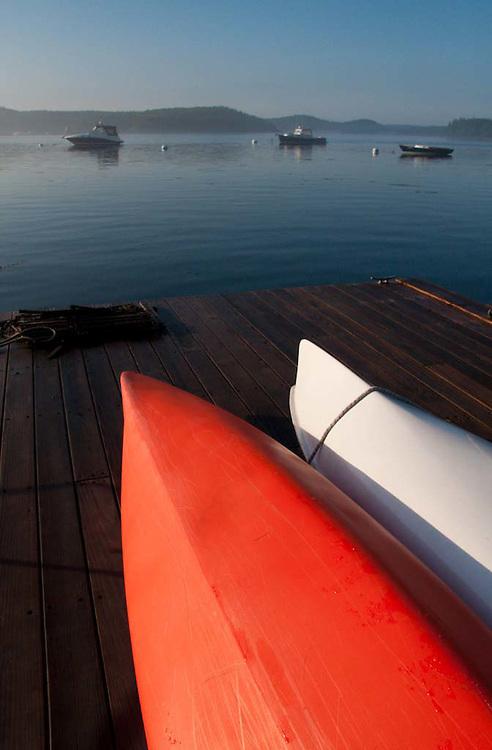 Boats on Dock, Castine, Maine, US