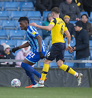 Blackpool's Armand Gnanduillet (left) under pressure from Oxford United's Alex Gorrin (right) <br /> <br /> Photographer David Horton/CameraSport<br /> <br /> The EFL Sky Bet League One - Oxford United v Blackpool - Saturday 1st February 2020 - Kassam Stadium - Oxford<br /> <br /> World Copyright © 2020 CameraSport. All rights reserved. 43 Linden Ave. Countesthorpe. Leicester. England. LE8 5PG - Tel: +44 (0) 116 277 4147 - admin@camerasport.com - www.camerasport.com