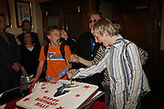 Liam Mower, James Lomas and George McGuire .  Billy Elliot the Musical celebrates First Birthday. Victoria Palace Theatre. 12 May 2006. ONE TIME USE ONLY - DO NOT ARCHIVE  © Copyright Photograph by Dafydd Jones 66 Stockwell Park Rd. London SW9 0DA Tel 020 7733 0108 www.dafjones.com
