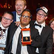 NLD/Amsterdam/20151015 - Televiziergala 2015, winnaar Gouden Televizier-Ring programma Syndroom van Johnny de Mol