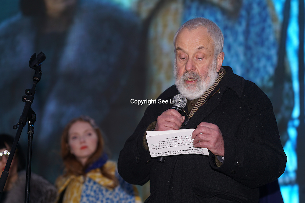 Speaker Mike Leigh attends The Salesman, Trafalgar Square,London,UK. by See Li