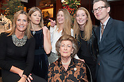 INDIA HICKS; EDWINA HICKS; MADDISON MAY BRUDENELL; ANGELICA HICKS; ASHLEY HICKS; LADY PAMELA HICKS, , Book launch for ' Daughter of Empire - Life as a Mountbatten' by Lady Pamela Hicks. Ralph Lauren, 1 New Bond St. London. 12 November 2012.