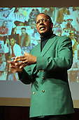 Famed Photographer Jamel Shabazz at his lecture ' Pieces of a Man' in conjunction with F.I.T.