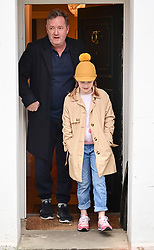 **Permission granted for daughter to be photographed**<br /> © Licensed to London News Pictures. 10/03/2021. London, UK. Former Good Mooring Britain host PIERS MORGAN leaves his London home with his daughter ELISE the morning after resigning over comments he made about The Duchess of Sussex, Meghan Markle. Photo credit: Ben Cawthra/LNP