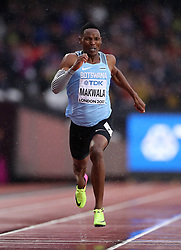 Botswana's Isaac Makwala taking part in an individual time trial in an attempt to qualify for the 200m semi-finals during day six of the 2017 IAAF World Championships at the London Stadium.