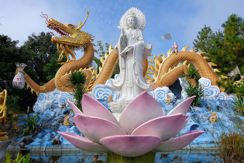 Statue at the Wat Thaton monastery in Tha Ton, Thailand.