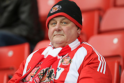 A Sunderland fan in the stands
