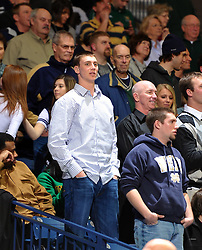 Ben's big brother and current Indiana Pacer Tyler Hansbrough was on hand to watch.