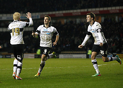 Derby County's Craig Bryson celebrates his goal  - Photo mandatory by-line: Matt Bunn/JMP - Tel: Mobile: 07966 386802 28/01/2014 - SPORT - FOOTBALL - Pride Park - Derby - Derby County v Yeovil Town - Sky Bet Championship