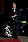 Koning Willem Alexander en Koningin Maxima ontvangen  de delegatieleiders van de Nuclear Security Summit (NSS) voor een diner op Paleis Huis Ten Bosch in Den Haag.<br /> <br /> King Willem Alexander and Queen Maxima receive the heads of delegation of the Nuclear Security Summit (NSS) for a dinner at the palace Huis Ten Bosch in The Hague.<br /> <br /> Op de foto / On the photo:  De Franse president Francois Hollande / The French president Francois Hollande