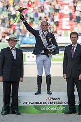 Michael Jung and Fischerrocana FST won silver in Eventing - Alltech FEI World Equestrian Games™ 2014 - Normandy, France.<br /> © Hippo Foto Team - Jon Stroud<br /> 31-08-14