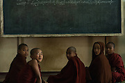 Five young Monks studying in Monastery