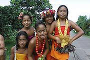 Dancers, Omoa village, Fatu Hiva, Marquesas, French Polynesia, (Editorial use only, no model release)<br />