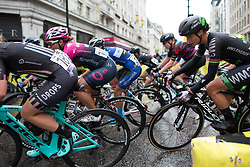 Marianne Vos (NED) of WM3 Pro Cycling Team leans into a corner in the third lap of the Prudential Ride London Classique - a 66 km road race, starting and finishing in London on July 29, 2017, in London, United Kingdom. (Photo by Balint Hamvas/Velofocus.com)
