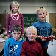 blueberry-day at the scool of Skei.from left: MatheaFoerde Mosessen, Jon Vaagane, Leander Mulen Sunde, Kjetil Steinsund