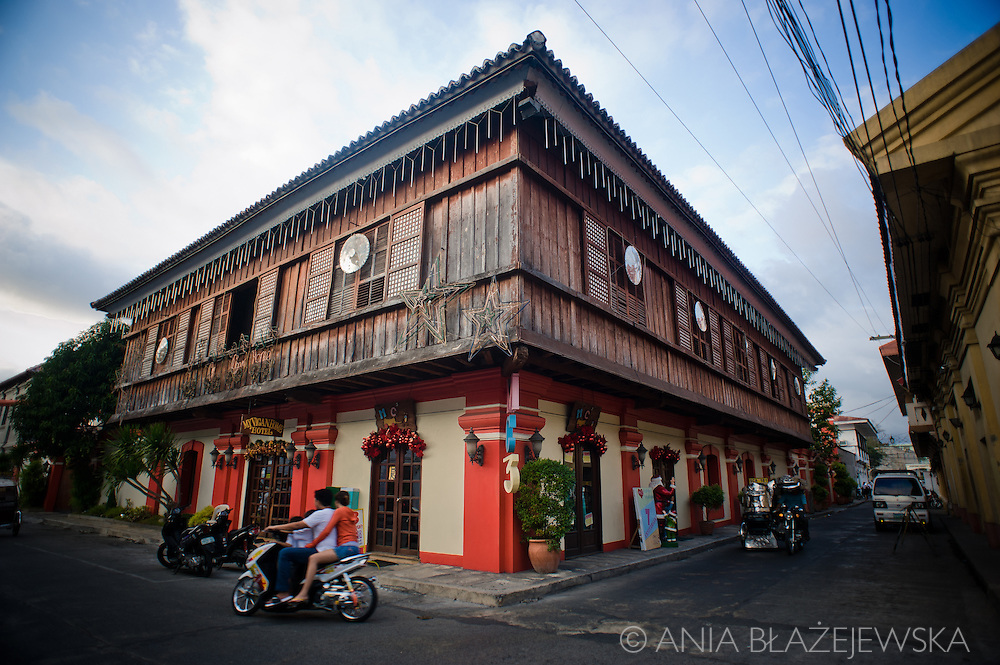 Traditional houses of Vigan.<br /> Ilocos Sur and Ilocos Norte are the Filipino provinces situated on Luzon Island and famous for heritage town of Vigan, windmills of Bangui, white sand beach of Pagudpud not to mention former president Marcos, who was born there.