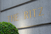 The Ritz hotel sign on the 4th October 2019 in London in the United Kingdom.